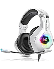 Beexcellent PS4 Gaming Headset, Xbox One Headset with Noise Canceling Mic, Upgraded RGB Light & Stereo Bass Surround, Compatible with PC, PS4, Xbox One, Laptop