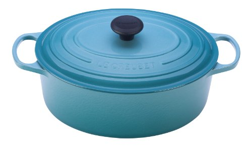 Le Creuset Signature Enameled Cast-Iron 5-Quart Oval (Dutch) French Oven, Caribbean by Le Creuset