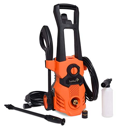 Ivation Electric Power Washer, 1520 PSI 1.32 GPM, 13 Amp, High Power Hose Pressure Washer Cleaner Machine for Cars, Driveways, Floors, Furniture and More, Small Model by Ivation