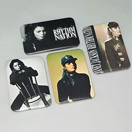 Janet Jackson Rhythm Nation Record Albums 1814 Button Badge 80's MTV Video Escapade Backpack Band Pins Gift Birthday (Best Mtv Videos Of The 80's)