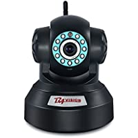 WiFi Wireless Home Security Camera 720P Surveillance Cameras Video monitor Pet/Dog Monitor Baby/Nanny Cam Pan/Tilt Night Vision with Two Way Audio(Black)