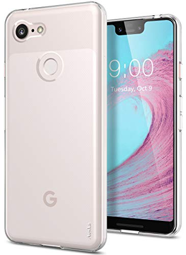 Google Pixel 3 XL Case, Aeska Ultra [Slim Thin] Flexible TPU Soft Skin Silicone Protective Case Cover for Google Pixel 3 XL (Clear)