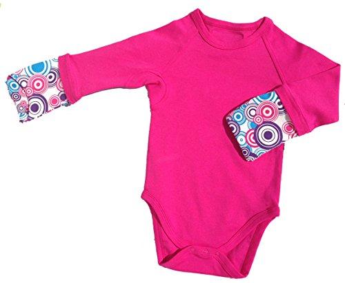 Price comparison product image Scratch Me Not Baby Girls' Flip Mitten Bodysuit - Onesie - Fucshia Sunshine, 4T