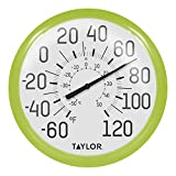 Taylor Precision Products Big and Bold Dial Thermometer (13.25-Inch, Green)