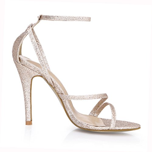 SUMMER Simple Heeled Sandals Bridal Bridesmaid Shoes Women Open Toe Pumps Prime Golden ZwO7ZP