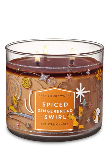 White Barn Bath & Body Works 3 Wick Candle Spiced Gingerbread Swirl