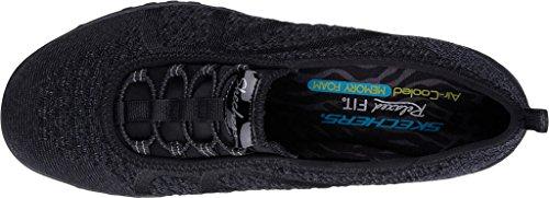 Skechers Women's Relaxed Fit Breathe Easy Fortune-Knit Slip-On,Black,US 5 W by Skechers (Image #5)