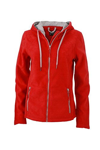 Chaqueta de lana a la moda con capucha Chaqueta Mujer red/steel-grey