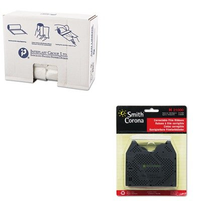 - KITIBSS303716NSMC21000 - Value Kit - Smith Corona 21000 Correctable Ribbon (SMC21000) and Integrated Bagging Systems S303716N Natural 16 Mic High Density Can Liners, 30quot; x 37quot; (IBSS303716N)