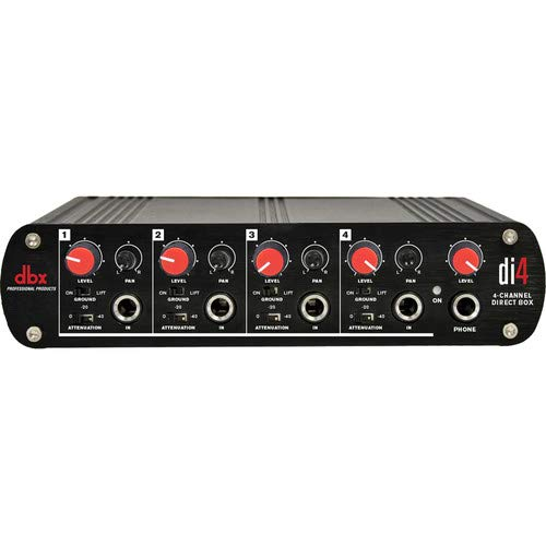 dbx DI4 Active 4 Channel Direct Box with Line Mixer with Free 1 Year EverythingMusic Extended Warranty