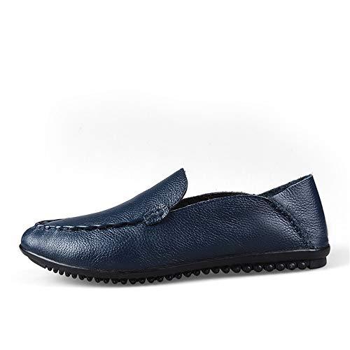 Y Suave 5cm Azul De Genuinos tamaño 23 Mocasín Único Pisos Corte Diseño 5cm Cuero 28 Zapatos Zgsjbmh gommino Confortables Negro Negocios Bajo Liviano amarillo Rw5EgWxSq