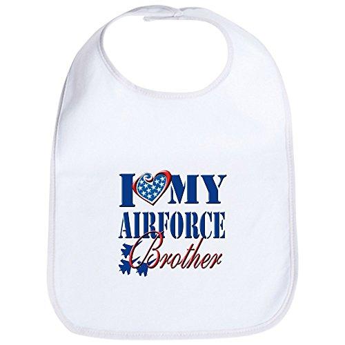 CafePress - I Love My Airforce Brother Bib - Cute Cloth Baby Bib, Toddler Bib ()