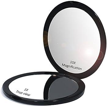 Amazon Com Makeup Pocket Mirror With 10x Magnification