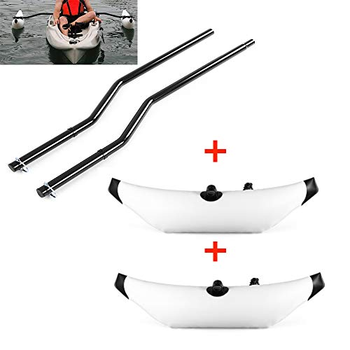 Lixada 1 Pair Kayak Outrigger Sidekick Arms Canoe Boat Fishing Stablizer System Rack Mount + Kayak PVC Inflatable Outrigger Kayak Canoe Fishing Boat Standing Float Stabilizer System (Outrigger Mount)