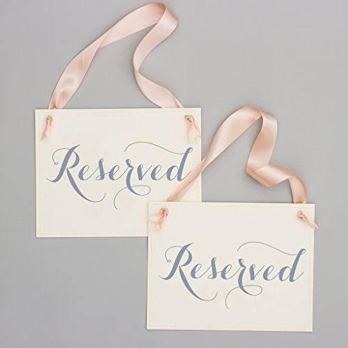 Set of 2 Reserved Chair Signs for Wedding Ceremony or Party | Aisle Banners Event Seats -