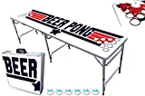 8-Foot Professional Beer Pong Table w/Cup Holes - Top Pong Edition
