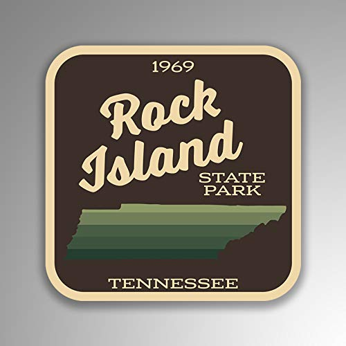 JMM Industries Rock Island State Park Tennessee Vinyl Decal Sticker Retro Vintage Look 2-Pack 4-inches by 4-inches Premium Quality UV Protective Laminate SPS126 ()