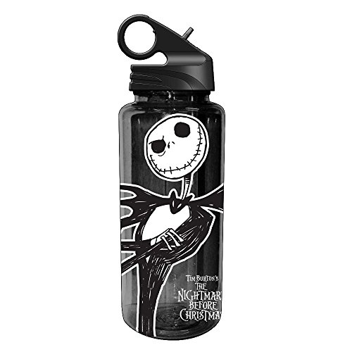 Silver Buffalo NB1664 Disney Nightmare Before Christmas Jack Skellington Tritan Water Bottle, 20-Ounces]()