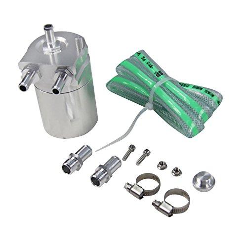 ALLOYWORKS Baffled Billet Aluminum Oil Catch Tank Can Reservoir Tank Universal ( Silver ) by ALLOYWORKS (Image #1)