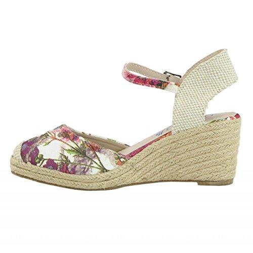 Zapatos de cuña de Mujer REFRESH 61798 TEXF CORAL