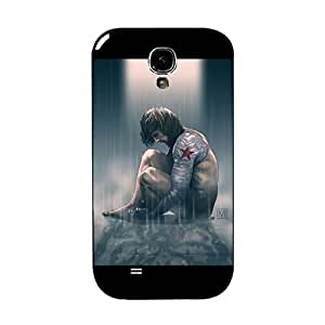 Hot Fashion Style Cartoon Captain America Cover Case for Samsung Galaxy S4 I9500 Bucky Barnes Character Phone Case