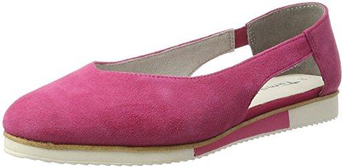 Black 5 513 UK Women's Tamaris 24202 Loafers Pink Fuchsia qPxnzC1