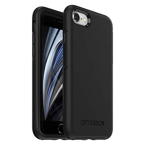 Otterbox Symmetry - Funda Anti Caídas Fina y Elegante para iPhone SE 2020/8/7, Negro