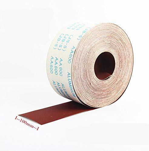 1x grain 800 longeur 1m x largeur 100mm id/éal pour le polissage de la sculpture de bois//racines//noyaux 1PC Rouleau de papier abrasif grain 800