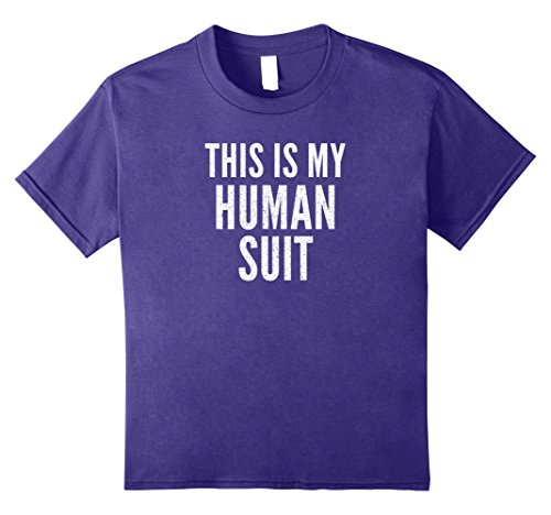 Kids THIS IS MY HUMAN SUIT Fun Nerdy Halloween Costume T-Shirt 12 (Cool Nerdy Halloween Costumes)