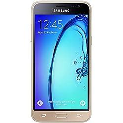"Samsung Galaxy J3 (2016) Smartphone, 5"" Super AMOLED, 1280 x 720 (HD), Quad-Core, 8 GB, 1.5 GB RAM, 4G/LTE, Oro [Italia]"