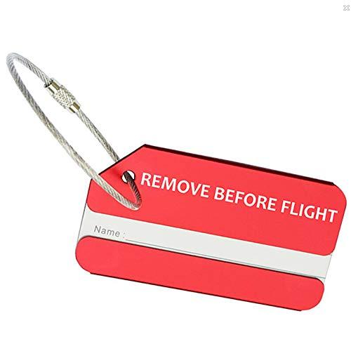 OYSTERBOY - Llavero de metal para equipaje, color rojo