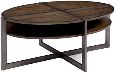 Amazon Com Furniture Of America Prontus Transitional Oval Coffee
