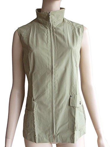 Unbekannt 40 Sans Femme Manteau Uni Vert Manche Olive rzargq