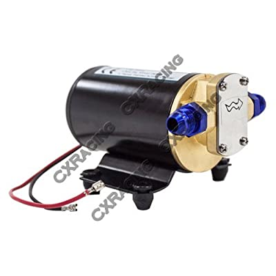 CXRacing Electric Scavenge Pump for Turbo Oil Feed 3.7 GPM 12VDC AN8: Automotive