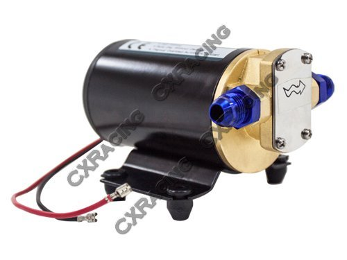 Price comparison product image CXRacing Electric Scavenge Pump for Turbo Oil Feed 3.7 GPM 12VDC AN8