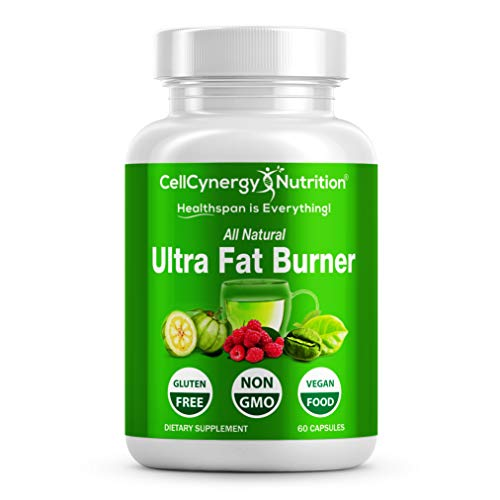 All Natural Weight Loss Fat Burners for Women & Men - Garcinia Cambogia, Green Tea - Fat Burner, Appetite Suppressant, Boost Metabolism - Green Coffee Bean - Non-GMO CellCynergy 60 Veggie Capsules