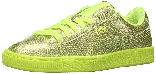 PUMA Women's Basket Future Minimal WN's Fashion Sneaker, Safety Yellow, 6 M US
