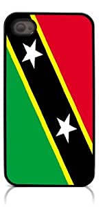 HeartCase Hard Case for Iphone 4 4G 4S (Flag of Saint Kitts and Nevis )
