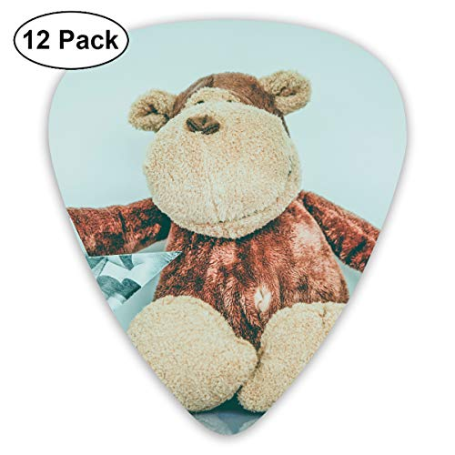 (Child Christmas Fun Monkey Star Animal Texture Toy Bendy Ultra Thin 0.46 Med 0.73 Thick 0.96mm 4 Pieces Each Base Prime Plastic Jazz Mandolin Bass Ukelele Guitar Pick Plectrum Display)
