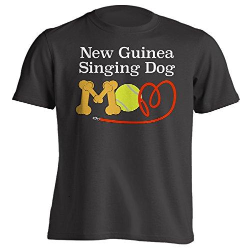New Guinea Singing Dog Mom Funny Dog Breed T-Shirt - Large - Black