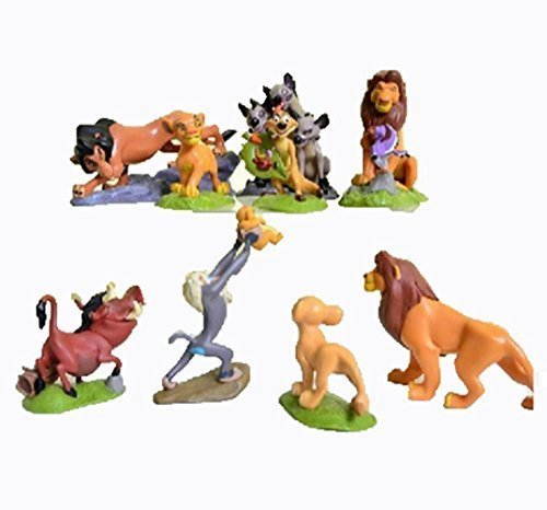 9 Pcs The Lions King Figures Toys Play Set Size 5-9cm (Disney Lion King Figurines)
