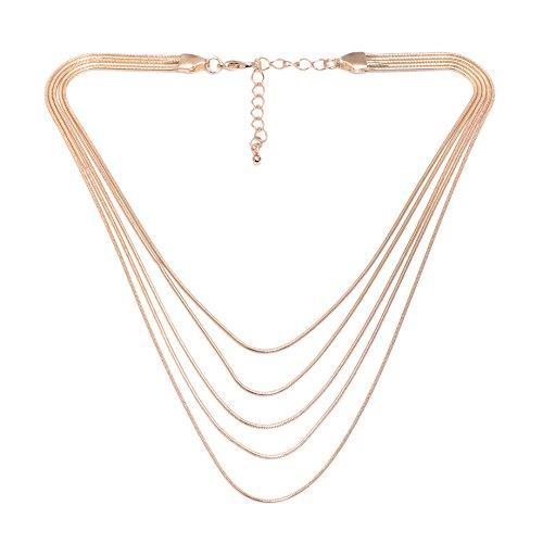 Spinningdaisy Multi Layered Choker Necklace