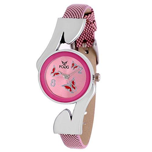 Fogg Analog Pink Dial Women's Watch -3013-PK