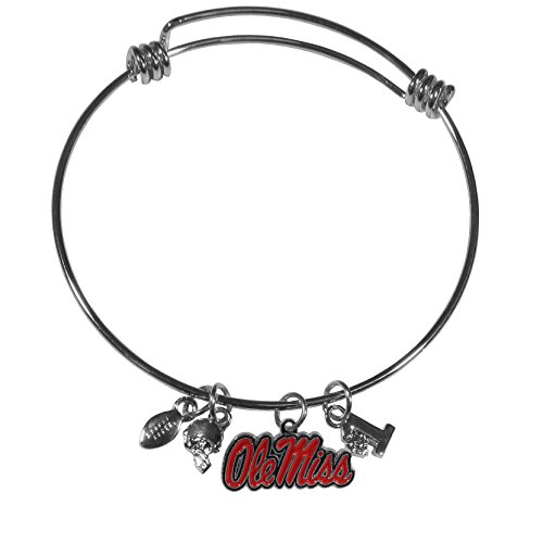 Siskiyou NCAA Mississippi Ole Miss Rebels Charm Bangle Bracelet