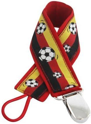 boubalou Fútbol cinta de chupete Junior futbolín para WM 2018, plástico, fijación universal para todos los Chupete: Amazon.es: Bebé