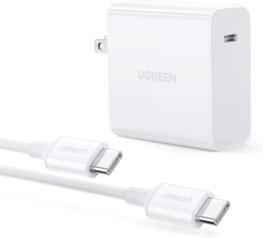 UGREEN 65W USB C Charger with 6FT 100W USB C Cable PD Fast Charging Cord for MacBook Pro Air 13, iPad Pro 2020, Nintendo, MateBook, ThinkPad, Samsung Galaxy Note 20/Note10/S20 Ultra, and More