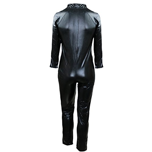Sleeves Wet PVC Leather Look Sexy Catsuit Bodysuits Long Men's TiaoBug x0qI7waK