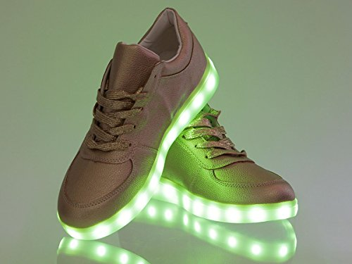 ... LED Schuhe Leuchtschuhe Blinkschuhe Farbwechsel leuchtende Sohle  Sneakers von Alsino Gold