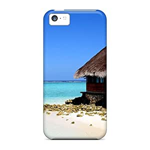 Hot Fashion TpR27871esPc Design Cases Covers For Iphone 5c Protective Cases (beach Hut)