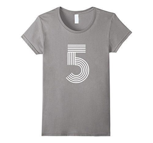 Womens Number 5 T Shirt Disco Style XL - Retro 5 Kids